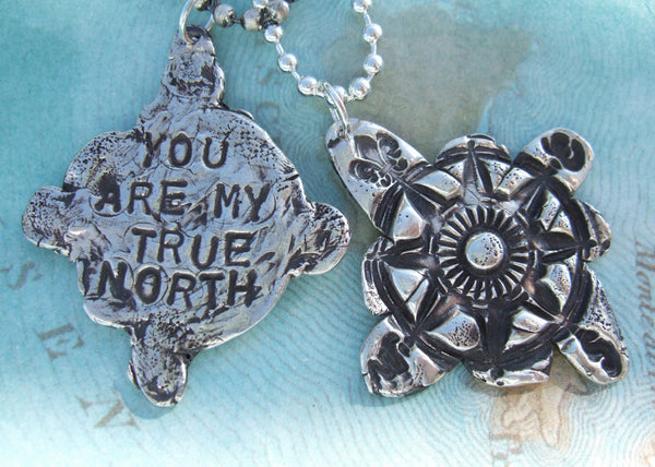 You Are My True North Compass Necklace - HappyGoLicky Jewelry