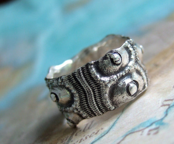 Sea Urchin Nautical Ring - HappyGoLicky Jewelry