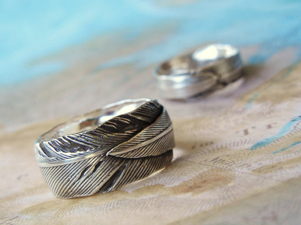 Silver Wedding Bands - HappyGoLicky Jewelry
