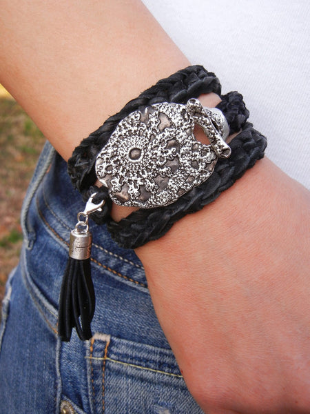 Bohemian Fashion Leather Wrap Bracelet