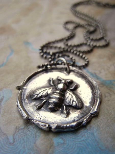 Honey Bee Wax Seal Necklace
