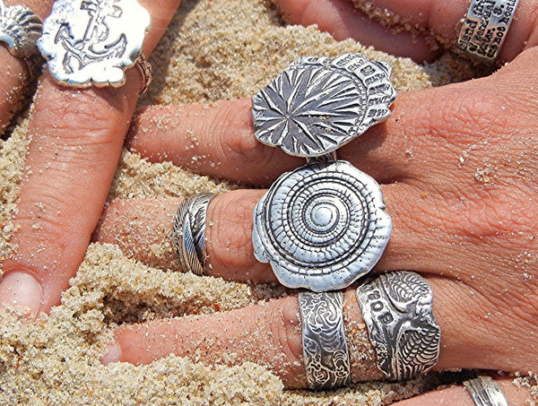 Nautical Spiral Shell Ring