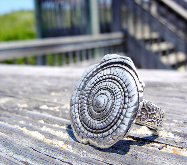 Nautical Spiral Shell Ring - HappyGoLicky Jewelry