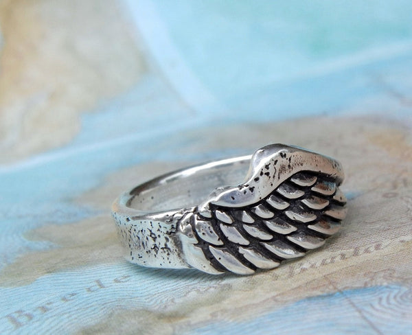 Angel Wing Ring - HappyGoLicky Sterling Silver Jewelry