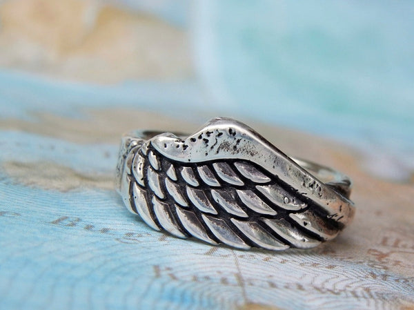 Angel Single Wing Ring - HappyGoLicky Jewelry