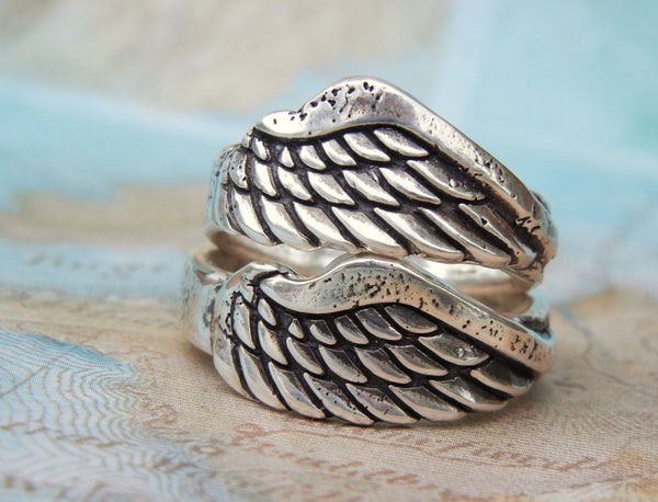 Angel Wing Jewelry Wing Ring - HappyGoLicky Jewelry