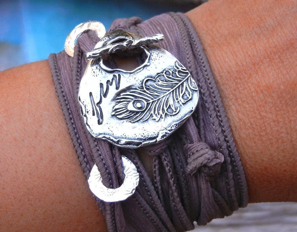 Best Fall Jewelry Silk Wrap Bracelet