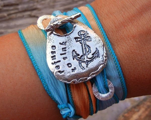 Refuse to Sink Silk Wrap Bracelet - HappyGoLicky Jewelry