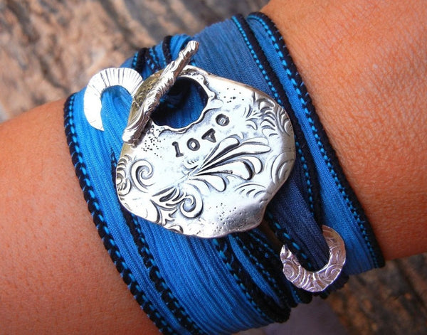 Love Silk Wrap Bracelet - HappyGoLicky Jewelry