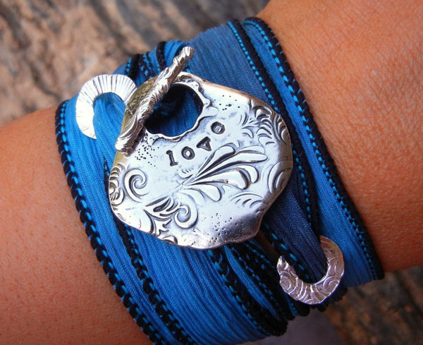 LOVE Sterling Silver Wrap Bracelet - HappyGoLicky Jewelry