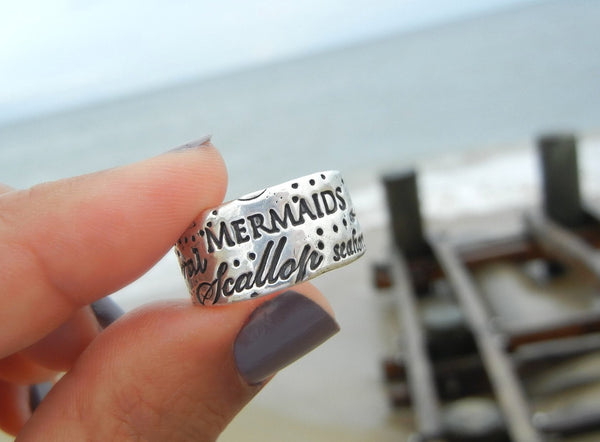 Mermaid Handmade Ring - HappyGoLicky Jewelry