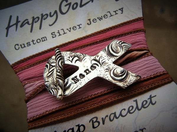 Cancer Awareness Wrap Bracelet - HappyGoLicky Jewelry