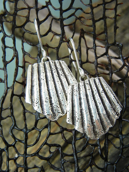 SeaShell Silver Earrings - HappyGoLicky Jewelry