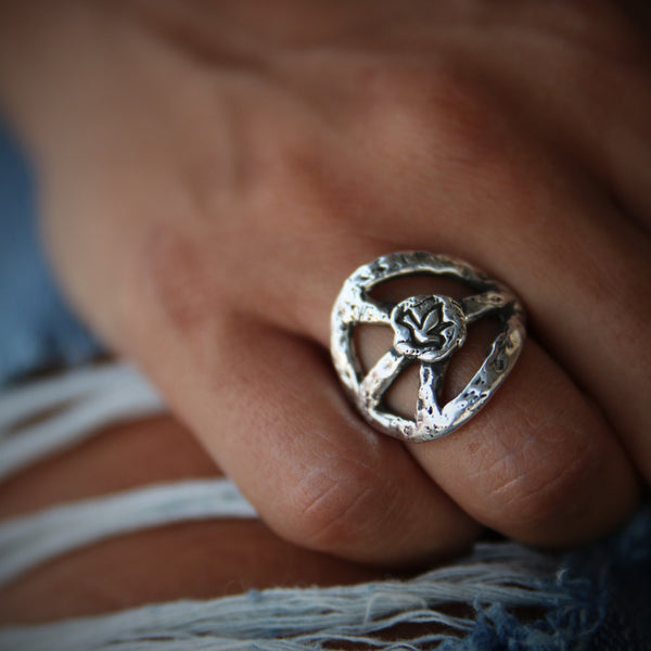 Peace Sign Ring - HappyGoLicky Jewelry