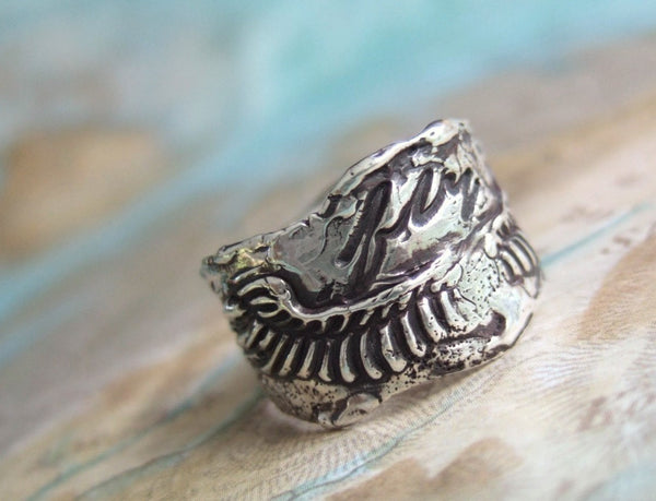 Bohemian Jewelry Sterling Silver Ring with Wings - HappyGoLicky Jewelry