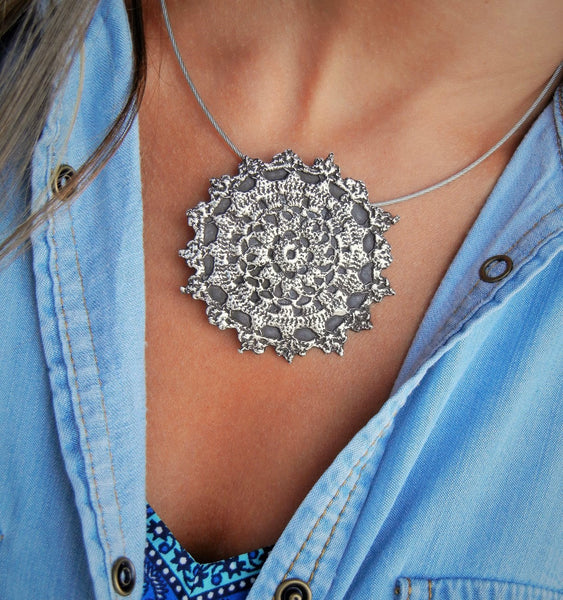 Sterling Silver Boho Necklace - HappyGoLicky Jewelry