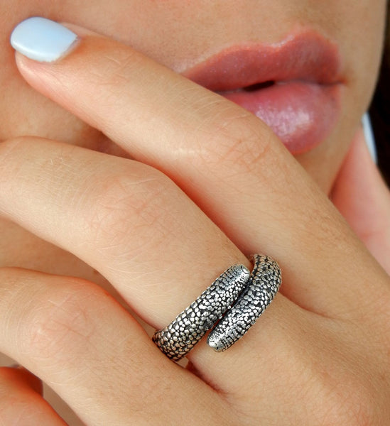 Starfish Adjustable Sterling Silver Ring
