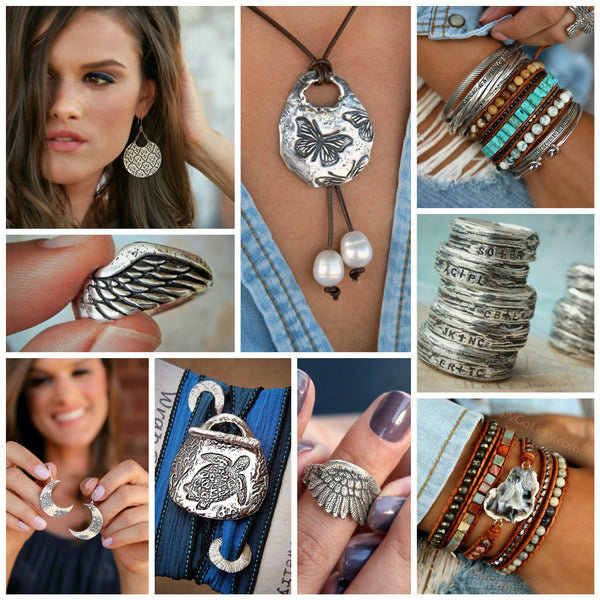 HappyGoLicky Boho Jewelry Collection in Sterling Silver