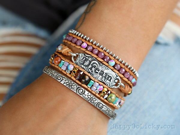Boho Wrap Bracelet by HappyGoLicky Inspirational  Jewelry