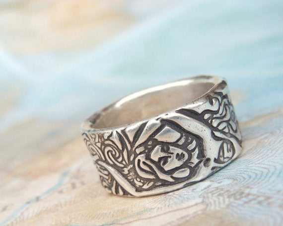 Mermaid Silver Ring - HappyGoLicky Jewelry