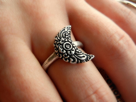 Moon Boho Ring - HappyGoLicky Jewelry