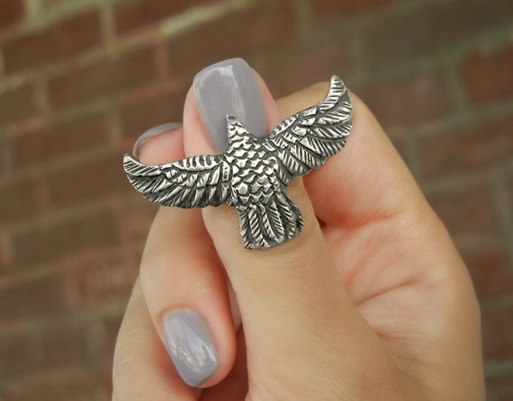 Raven Ring - HappyGoLicky Jewelry