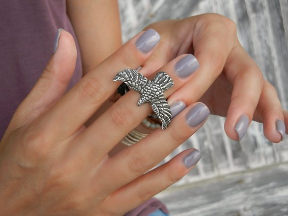 Sterling Silver Boho Midi Ring - HappyGoLicky Jewelry