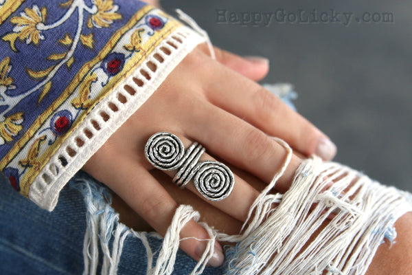 Best Boho Jewelry Brands HappyGoLicky Jewelry Sterling Silver Ring