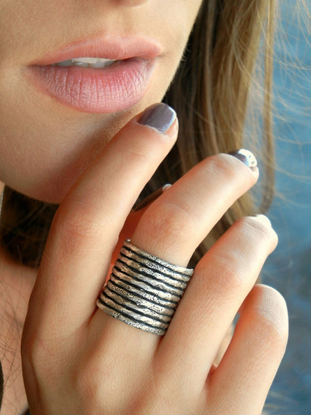 Boho Stacking Sterling Silver Rings by HappyGoLicky Jewelry