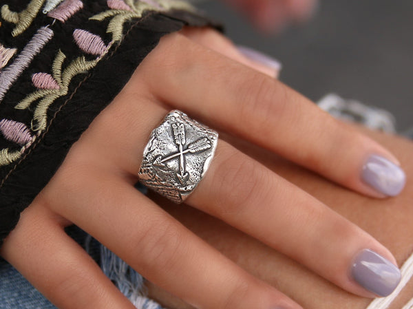 Southwestern Ring Arrow Jewelry by HappyGoLicky
