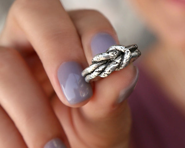 Love Knot Ring in Sterling Silver by HappyGoLicky Handmade Jewelry