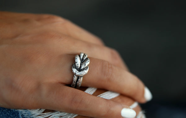Happy Go Licky Sterling Silver Knot Ring