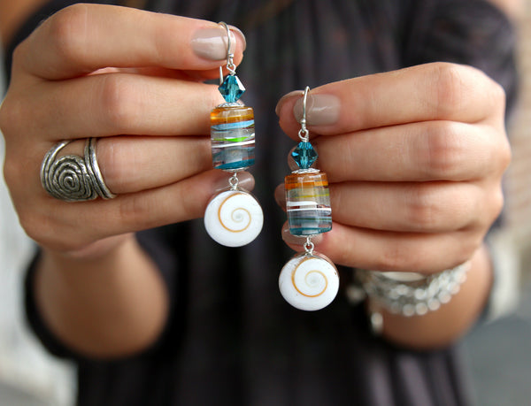 Surfite Jewelry Surfboard Resin Earrings by HappyGoLicky