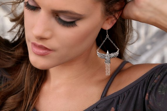 Tribal Bird Earrings
