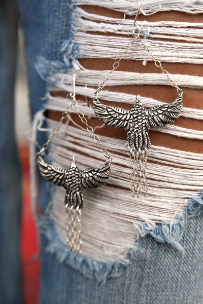 Tribal Bird Earrings - HappyGoLicky Jewelry
