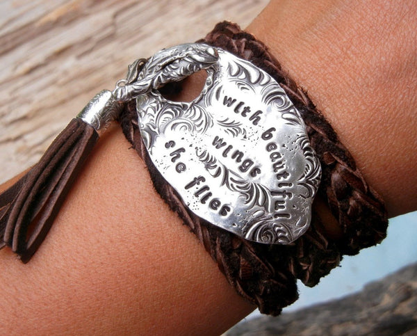 Personalized Leather Wrap Bracelet