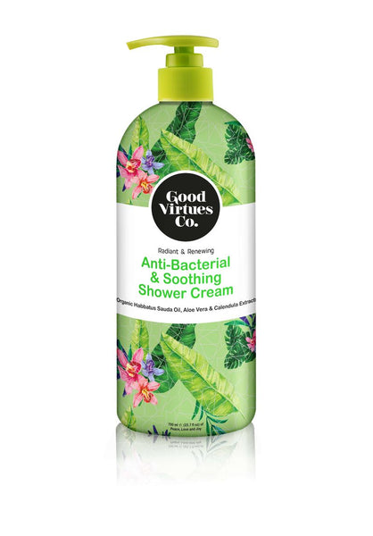 Anti-Bacterial & Soothing Shower Cream (Aloe Vera & Calendula)