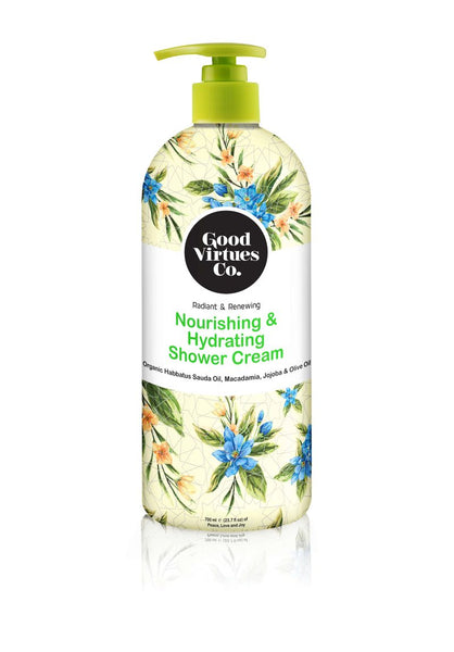 Nourishing & Hydrating Shower Cream (Macadamia, Jojoba & Olive Oil)