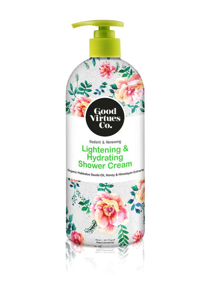 Lightening & Hydrating Shower Cream (Honey & Himalayan Extracts)