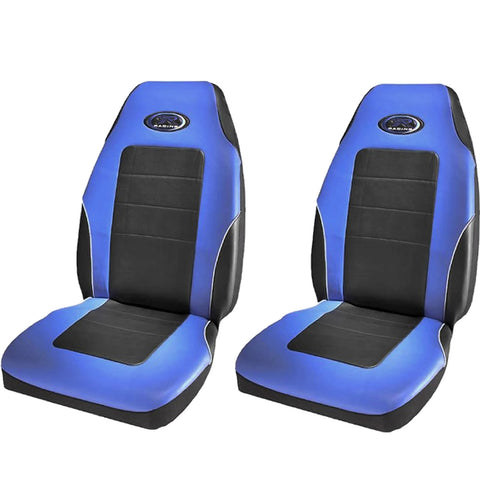 Blue R Racing High Back Seat Covers