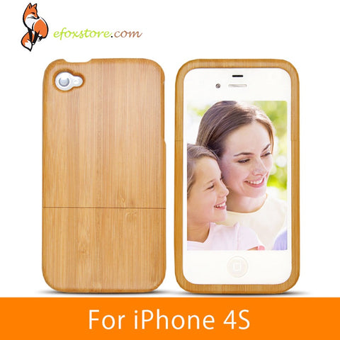 Real Wood Smoothy Handmade  iPhone 4S Case  Back Protector  Cover Case