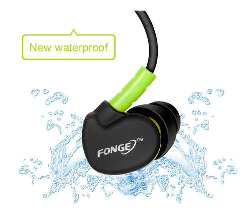 Waterproof Sweatproof  Earphone with Memory wire  Noise-Cancelling earbuds with Mic