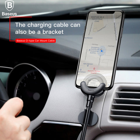 Baseus Car Phone Holder for iPhone X 8 7 6 5S  with  Charging Bracket