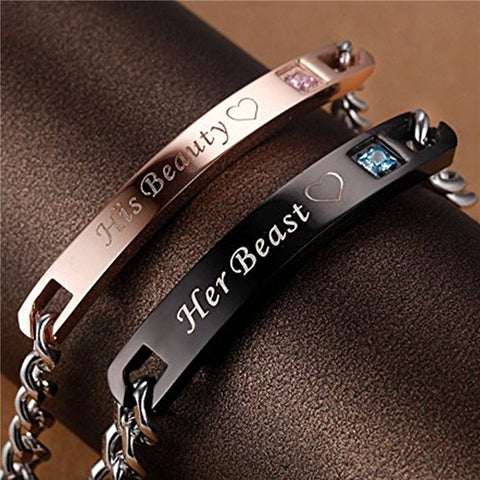 Jiayiqi Her King His Queen Couple Bracelet for Women Men