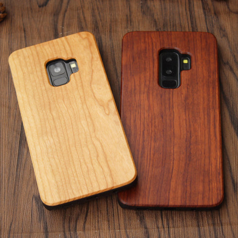 Natural Bamboo Case For iPhone 5 5s SE 6 6s 7 Plus  samsung S6 S7 S8 Edge