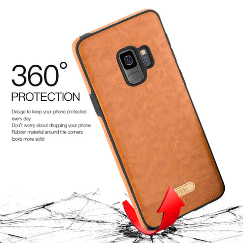 Luxury Shockproof Slim Leather Back Case For Samsung Galaxy  S9 / S9 Plus