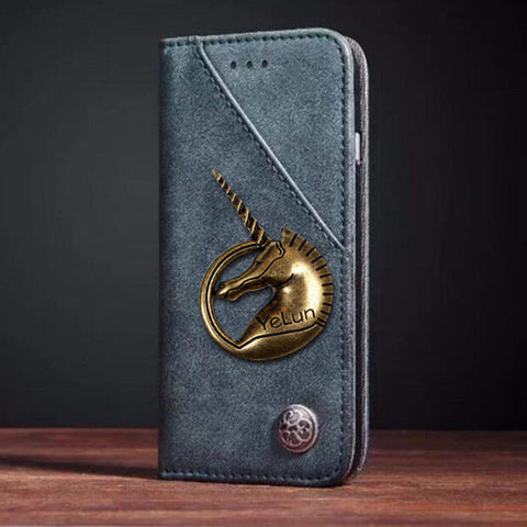 Vivo X21 V9 Y75 V7 Y79 X20 Y66 X9 Y55 Luxury Wallet Unicorn PU Leather Case