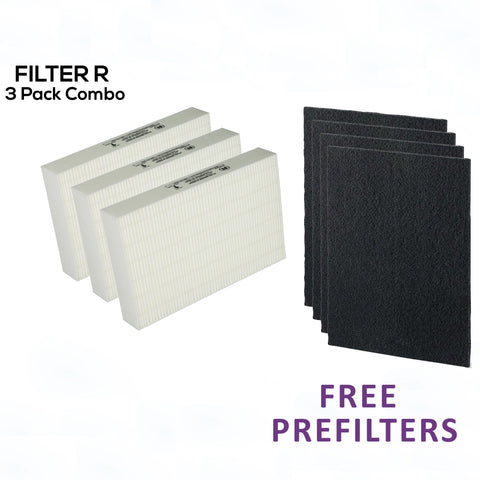 Promo:  buy 3 get FREE prefilters: Captains Compass HEPA FILTER R HRF-R3 FOR HPA 300  + 4 Free Carbon Activated Prefilters