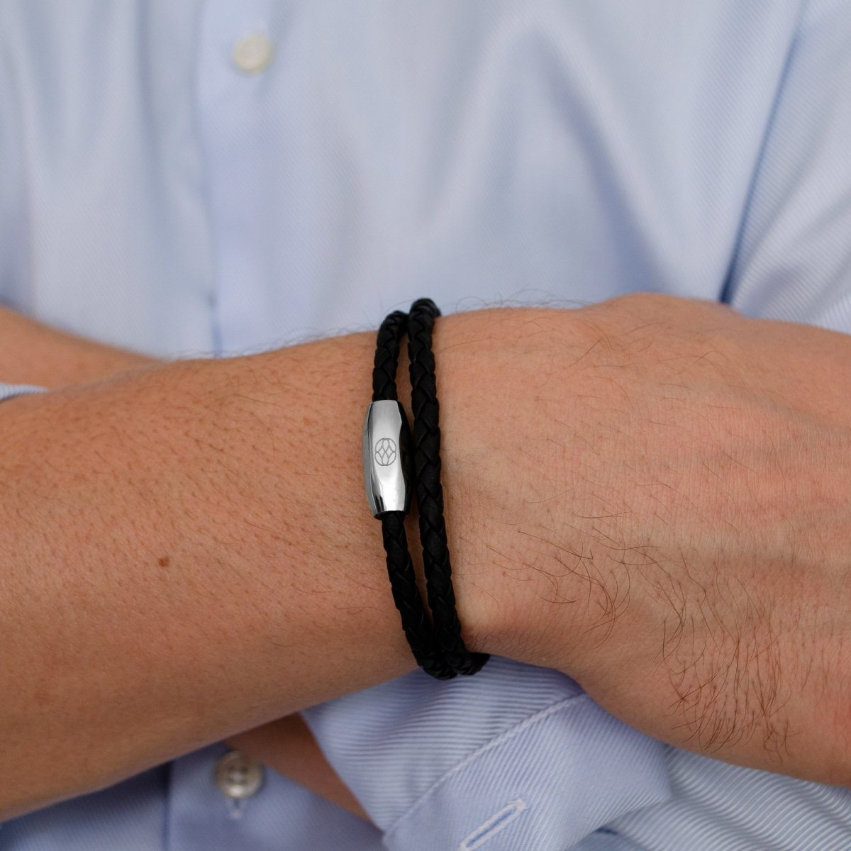 Pulsera - Numana Doble Nappa 4 MM Black Acero Inoxidable