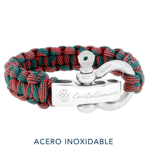 Pulsera - Red Camo Stainless Steel